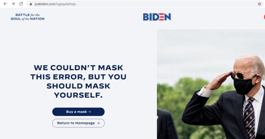 A screenshot from Joe Biden's campaign website.