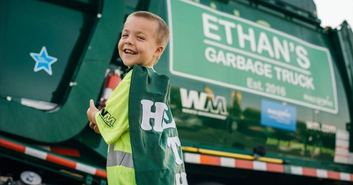 Little Boy with Cystic Fibrosis Had Wish Granted, Became Garbage Man for Day