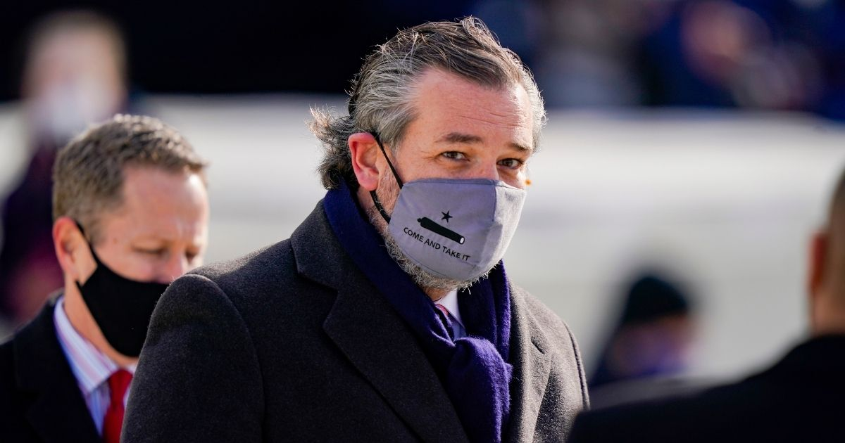 Ted Cruz Wore Mask with 'Come and Take It' on It to Biden's Inauguration